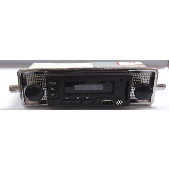 Radio FUSCA até 70 FM MP3 Cartão SD USB estilo retro (botões preto)  - SSR Peças & Acessórios ltda ME.