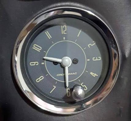 Relógio de Horas 52mm 12V VW  Bege 345300VWB  - SSR Peças & Acessórios ltda ME.