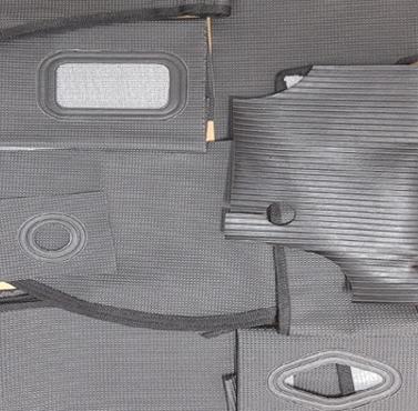 Revestimento interno CINZA p/ fusca carrapatinho (tigrinho) 1º linha vulcanizado  - SSR Peças & Acessórios ltda ME.