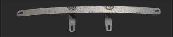 Suporte para placa dianteira fusca 71/96  - SSR Peças & Acessórios ltda ME.