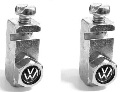 Suporte placa dianteira modelo tijolinho c/ parafuso VW   - SSR Peças & Acessórios ltda ME.