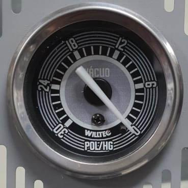Vacuômetro 0-30 pol/Hg 52mm Willtec W06.052C  - SSR Peças & Acessórios ltda ME.