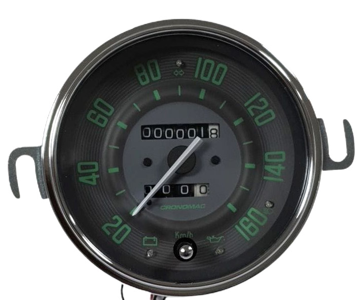 Velocímetro 110mm Mecânico 160kmh VW – Verde – Hodômetro Simples 122515vw  - SSR Peças & Acessórios ltda ME.