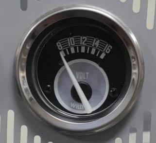 Voltimetro willtec 8-16 V 52mm w22 137c  - SSR Peças & Acessórios ltda ME.