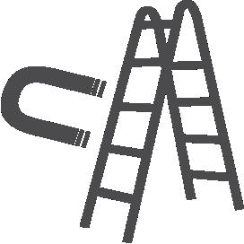 Escada de aço galvanizado