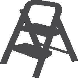 Escadas banquetas/banquetas