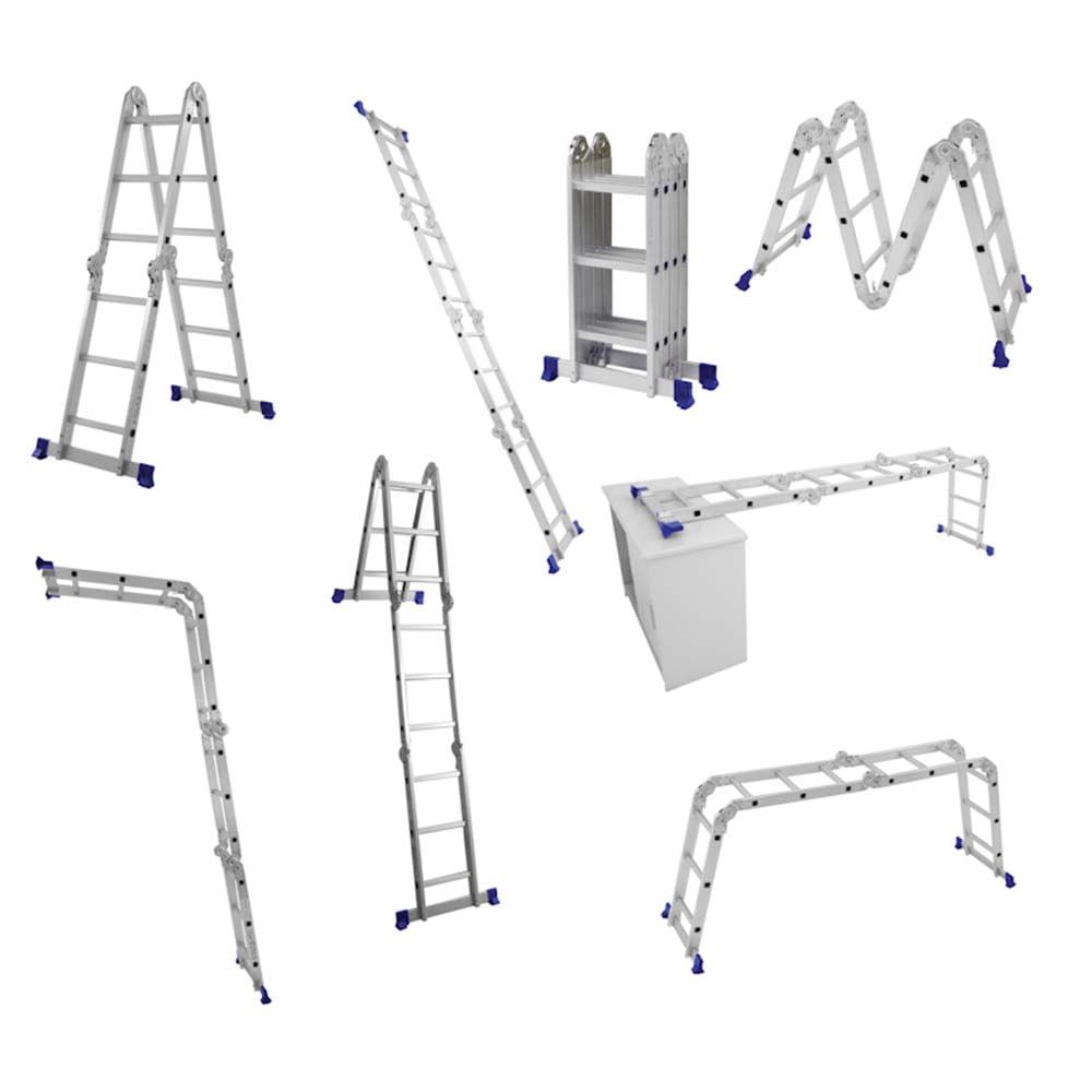 Escada articulada 4x3 em alumínio