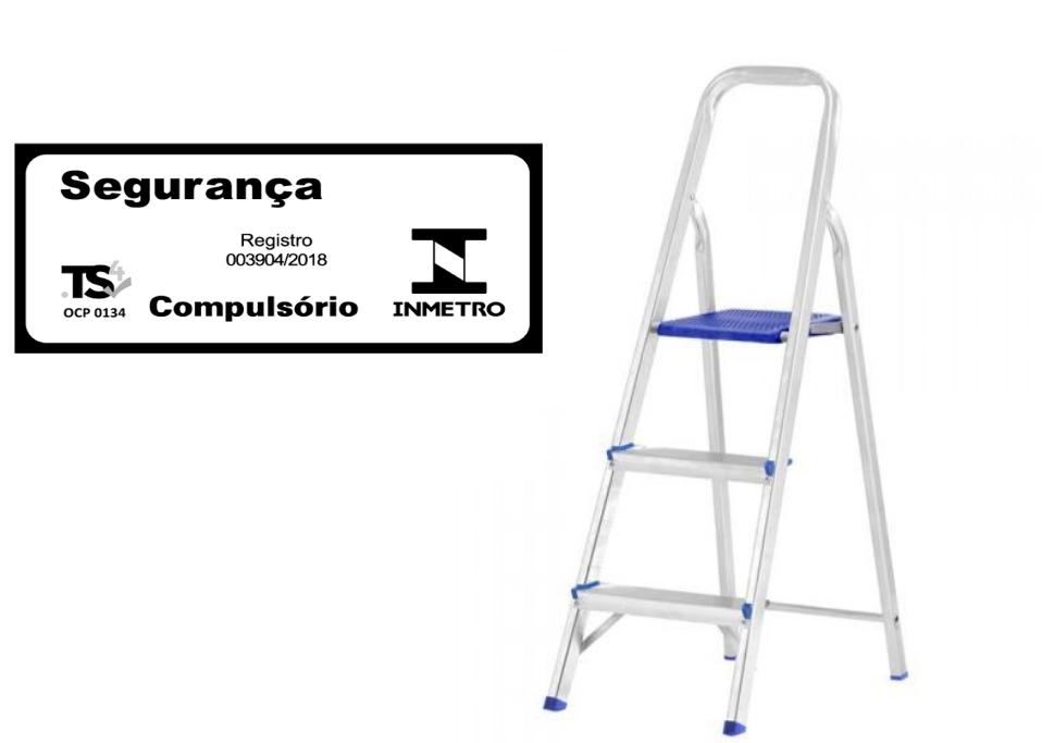 Escada doméstica de alumínio-Mor-03 Degraus
