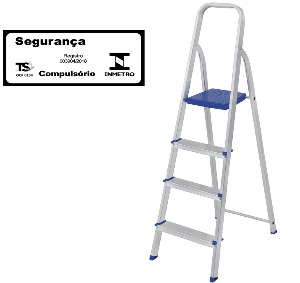 Escada doméstica de alumínio-Mor-04 Degraus