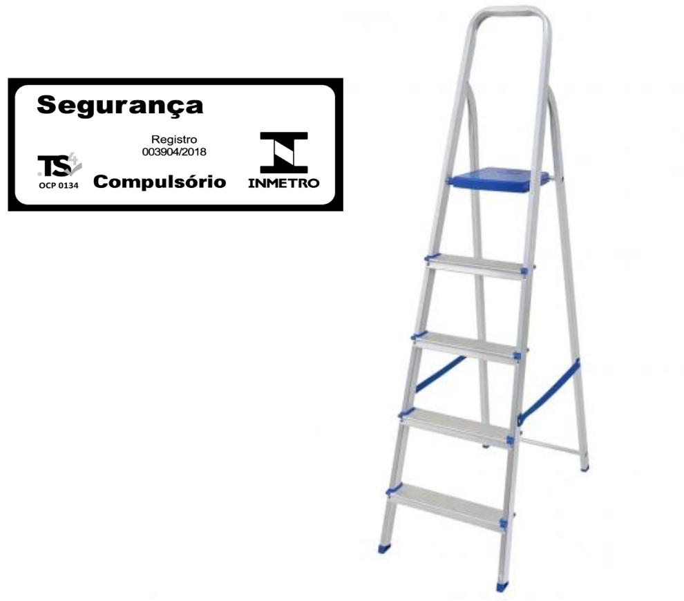 Escada doméstica de alumínio-Mor-05 Degraus