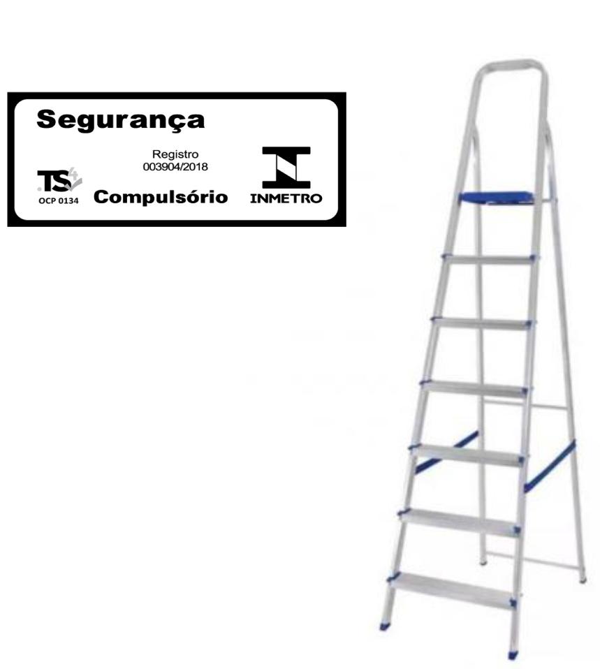 Escada doméstica de alumínio-Mor-07 Degraus