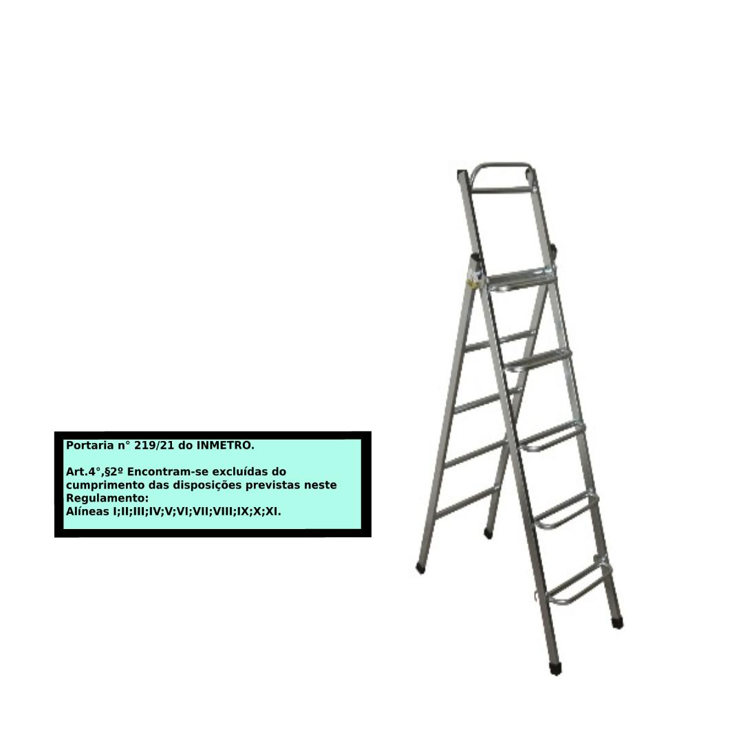 Escada Extensiva 2x1 em aço 5/10 Degraus-1,10x2,30 metros