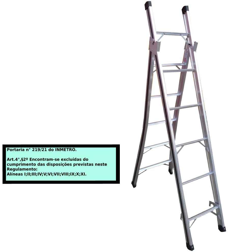 Escada Extensiva 3x1 em alumínio 06 Degraus