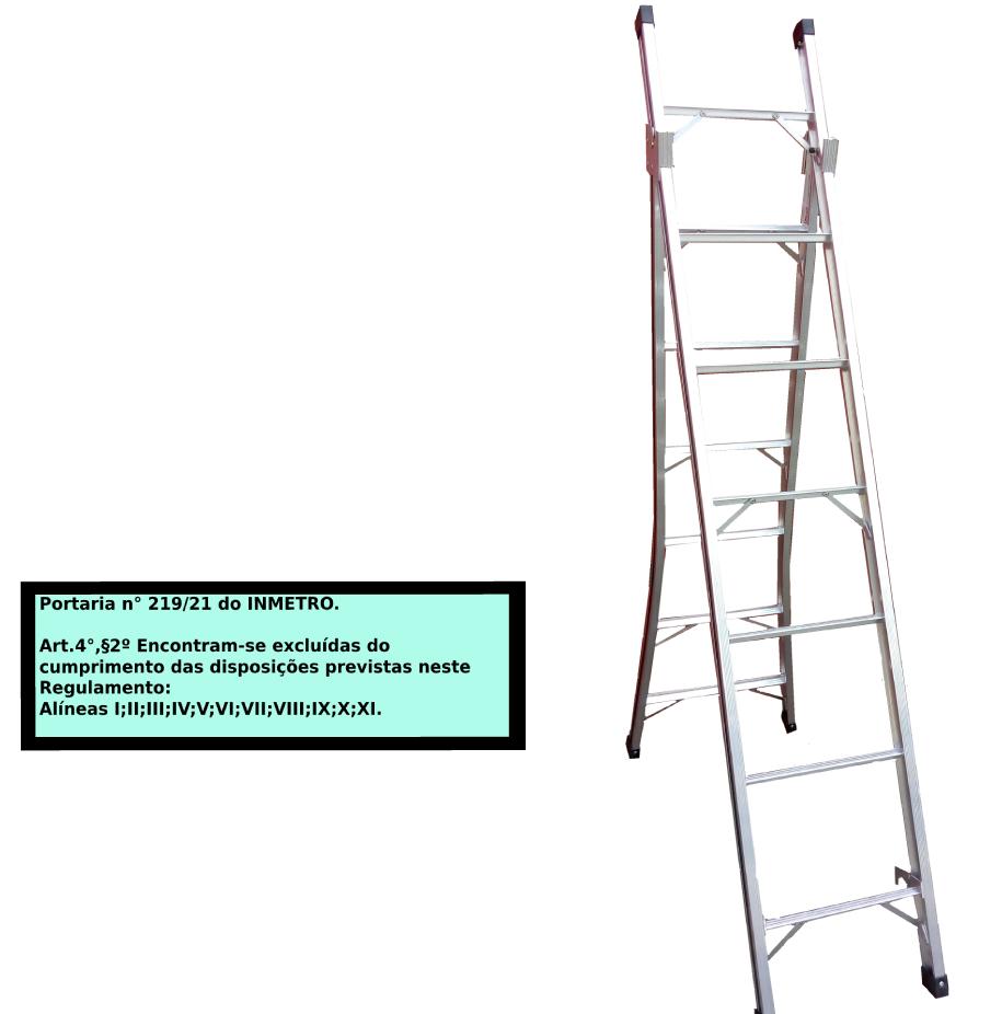 Escada Extensiva 3x1 em alumínio 07 Degraus