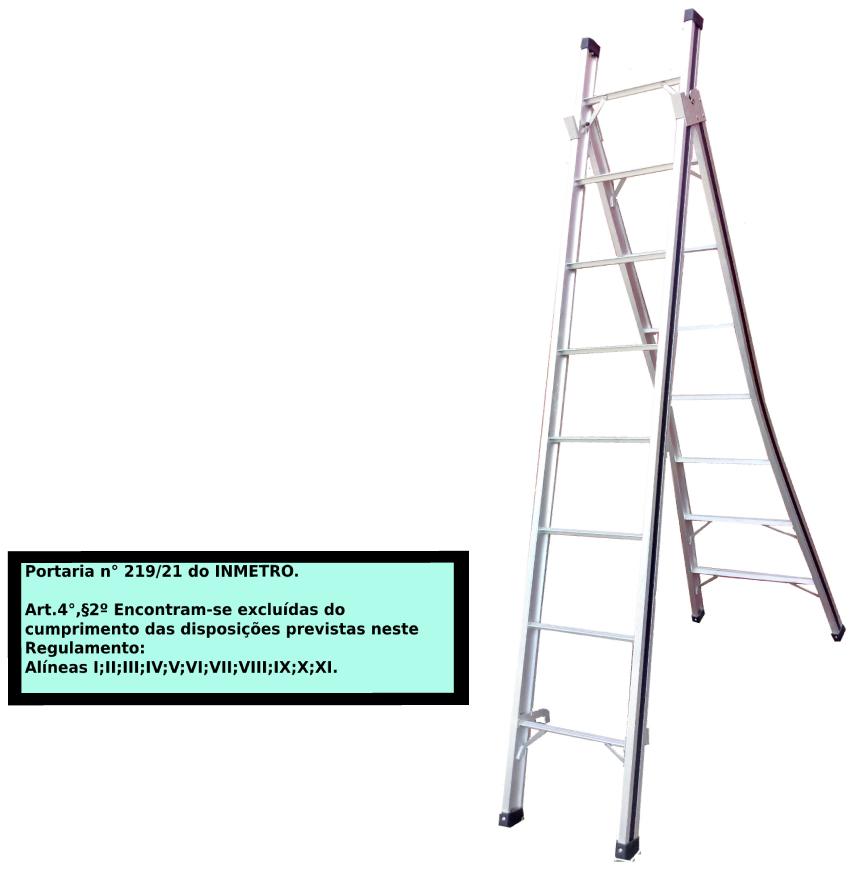 Escada Extensiva 3x1 em alumínio 08 Degraus