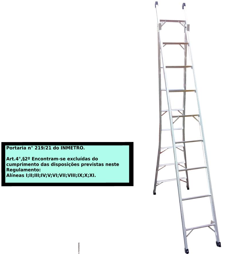 Escada Extensiva 3x1 em alumínio 09 Degraus