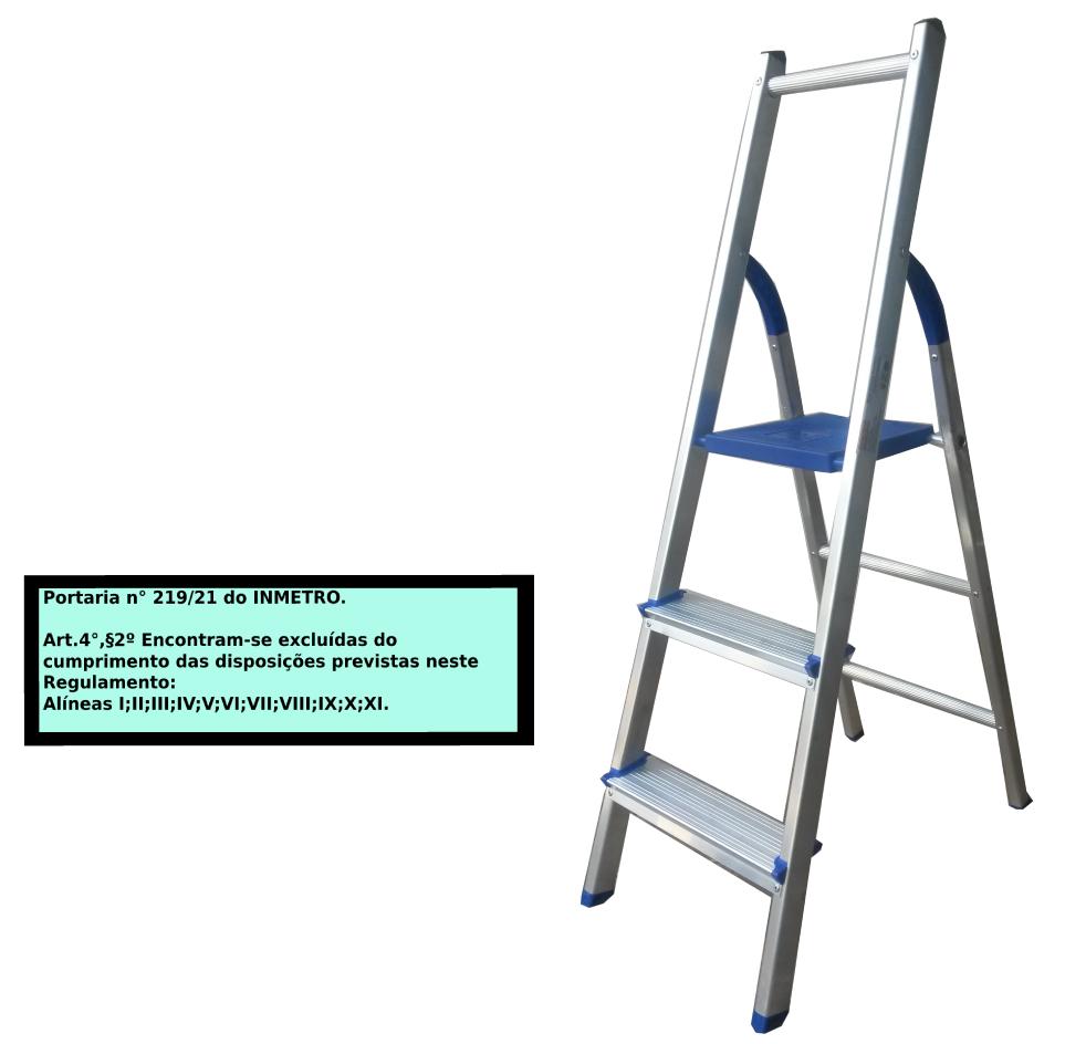 Escada Multiuso de Acesso alternado bilateral 03 degraus