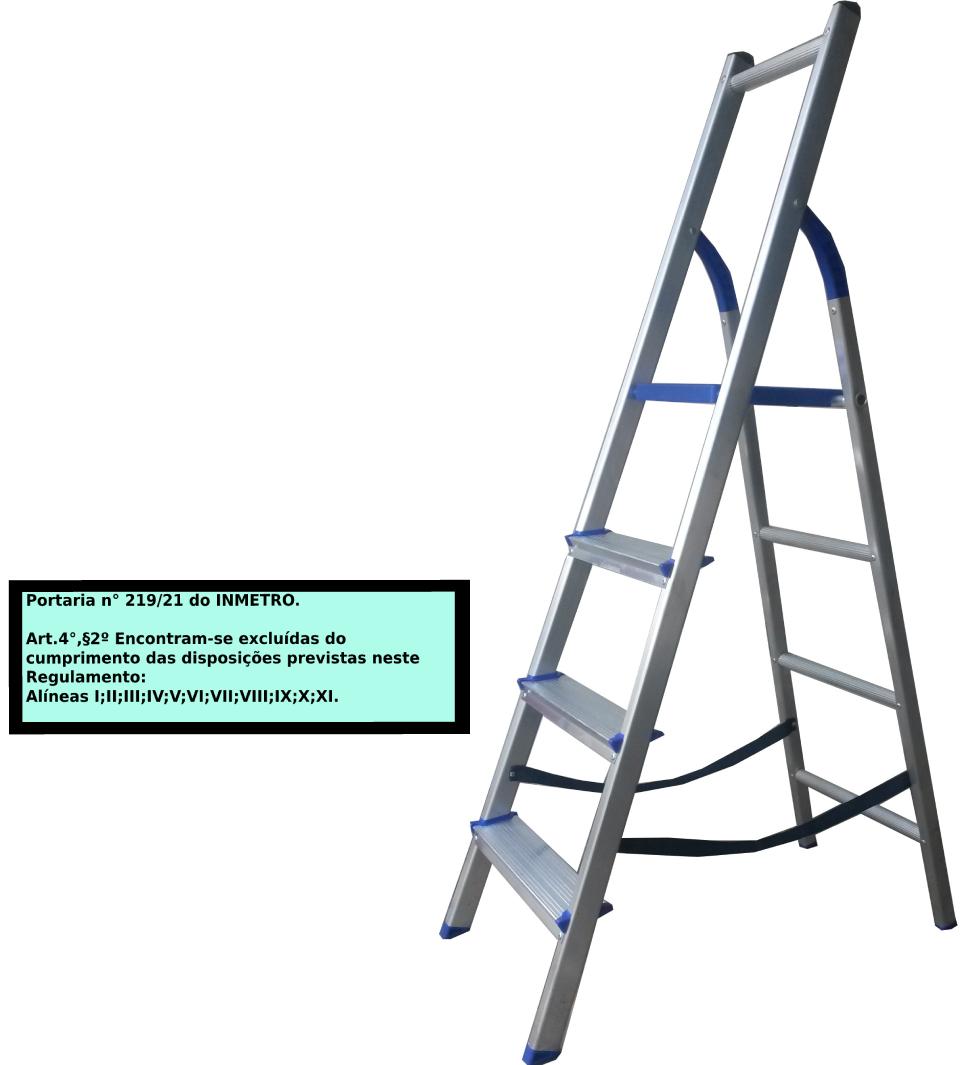 Escada Multiuso de acesso alternado bilateral 04 degraus