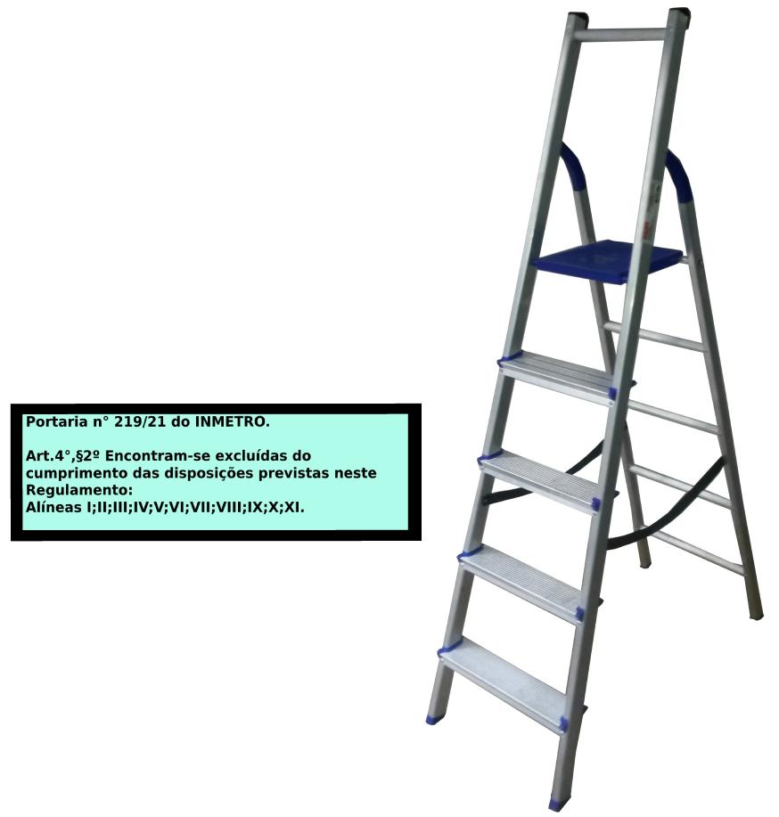 Escada Multiuso de acesso alternado bilateral 05 degraus