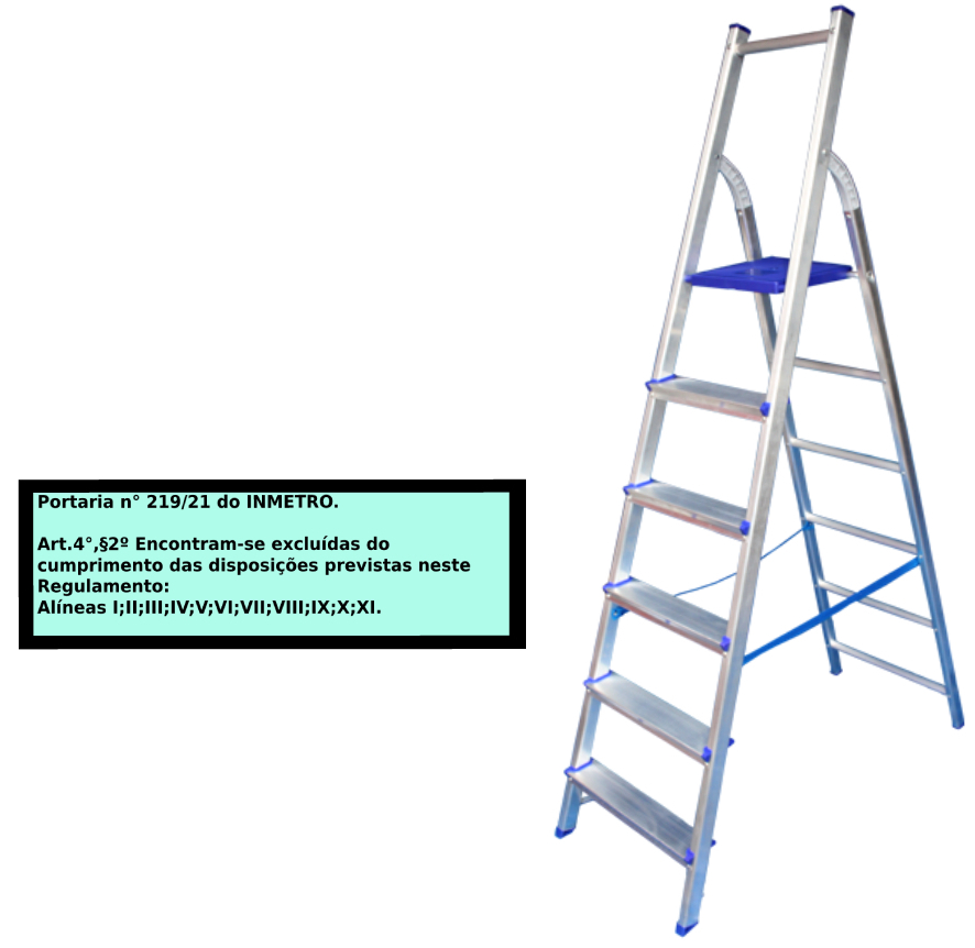 Escada Multiuso de acesso alternado bilateral 06 degraus