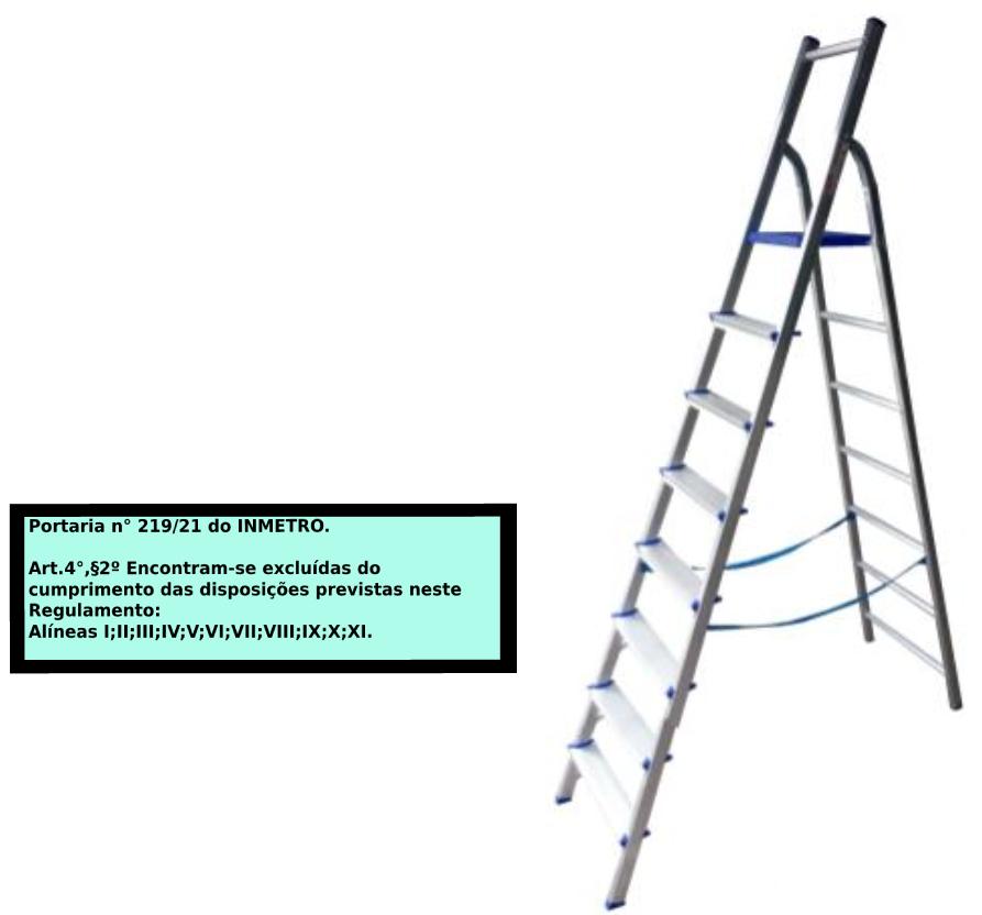 Escada Multiuso de Acesso alternado bilateral 08 degraus
