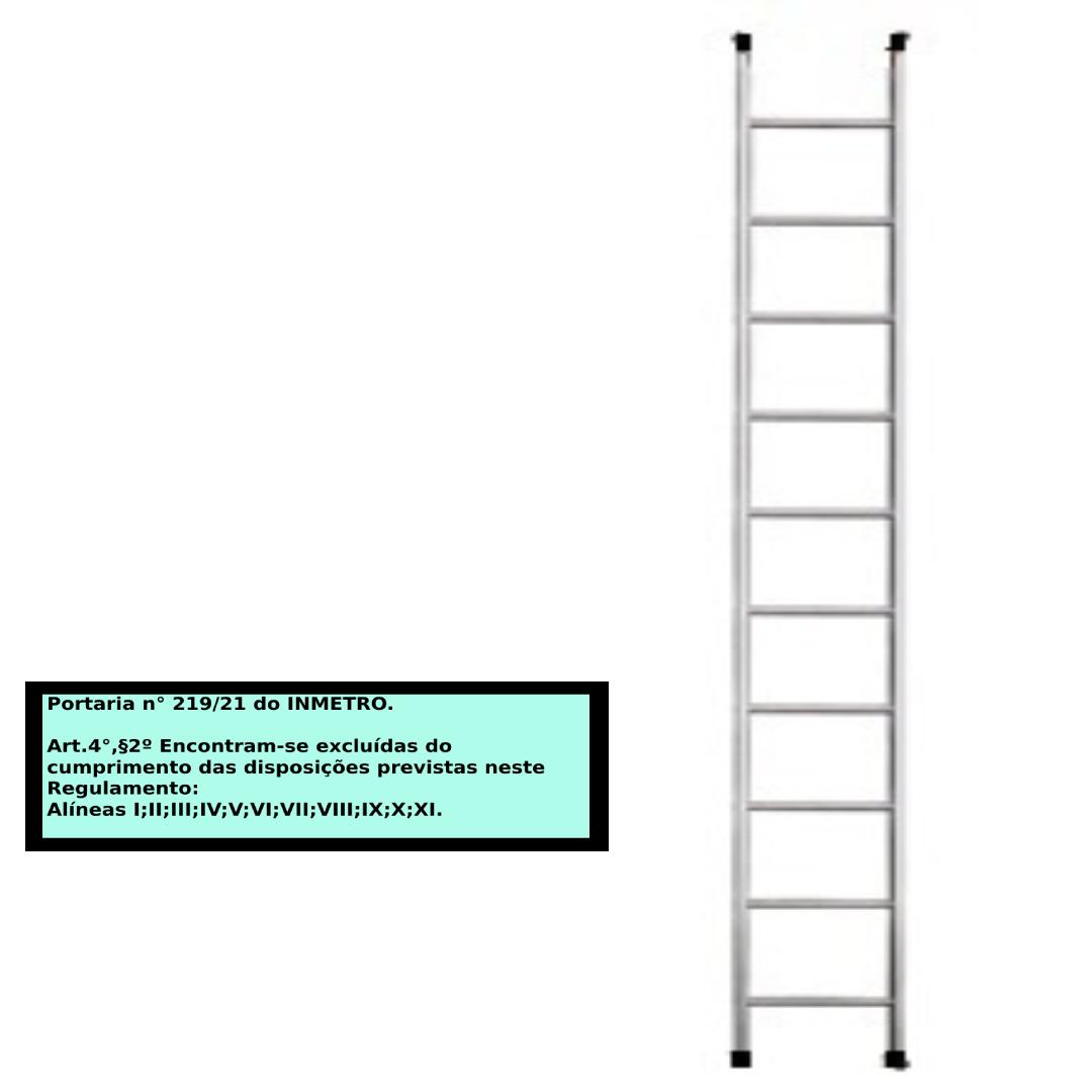 Escada paralela em alumino 10 Degraus