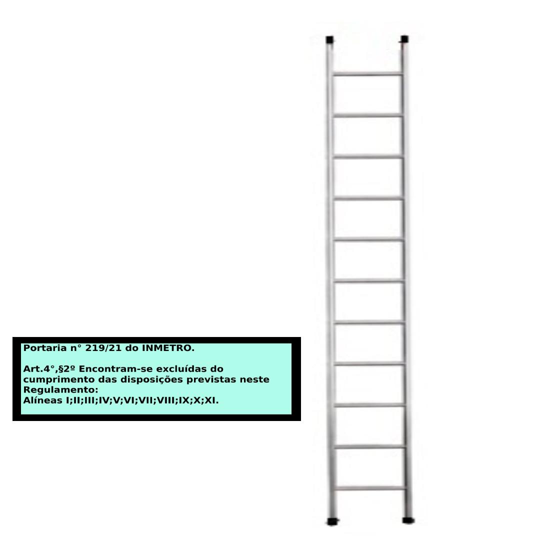 Escada paralela em alumino 11 Degraus