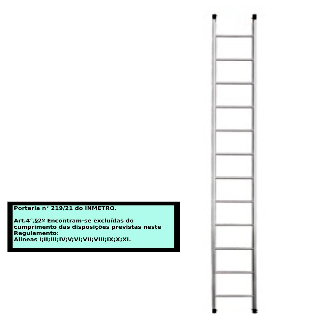 Escada paralela em alumino 12 Degraus
