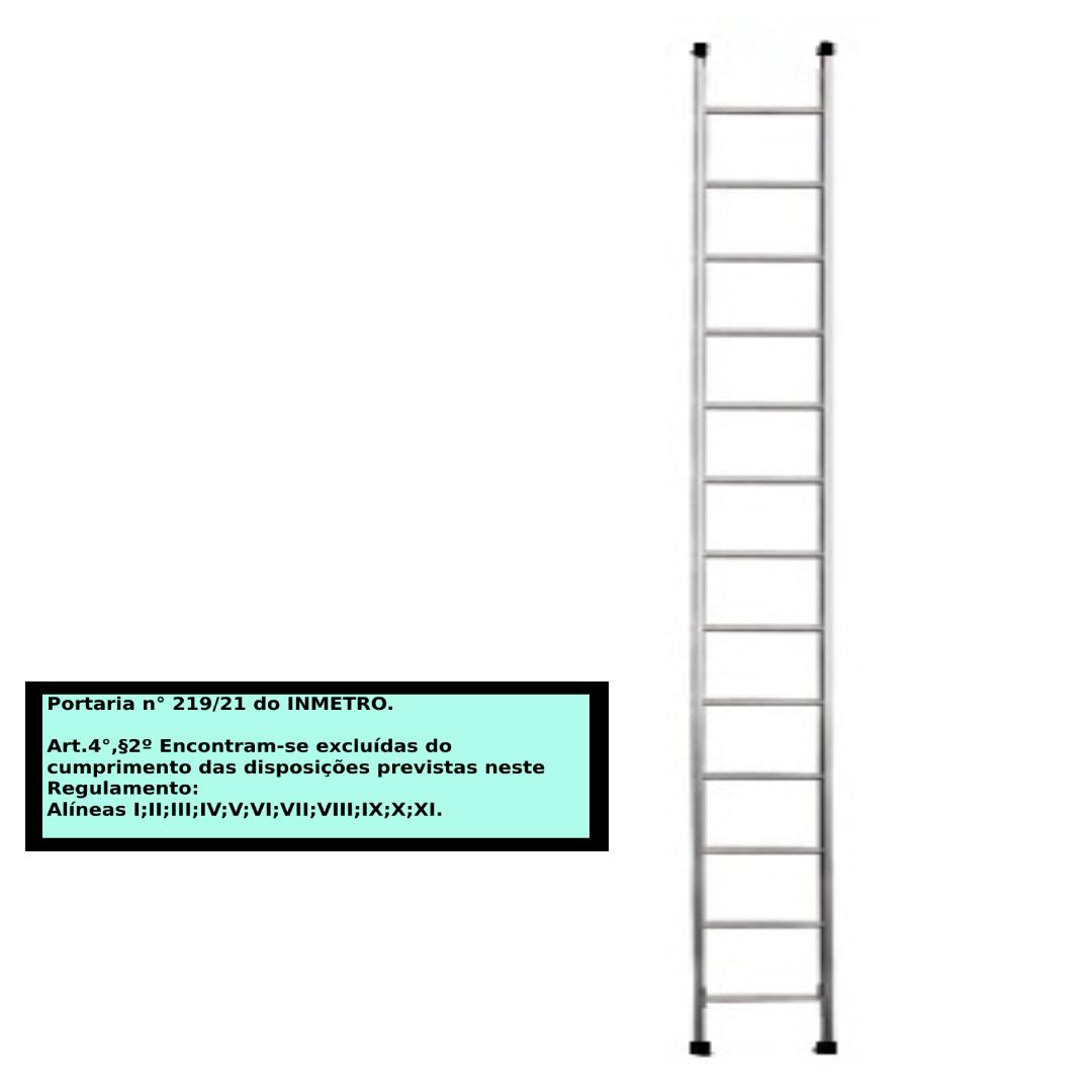 Escada paralela em alumino 13 Degraus