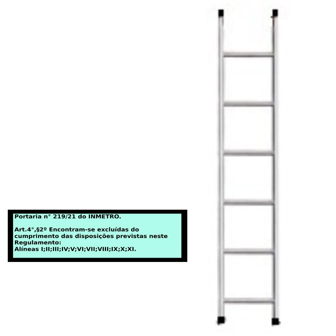 Escada paralela em alumino 6 Degraus