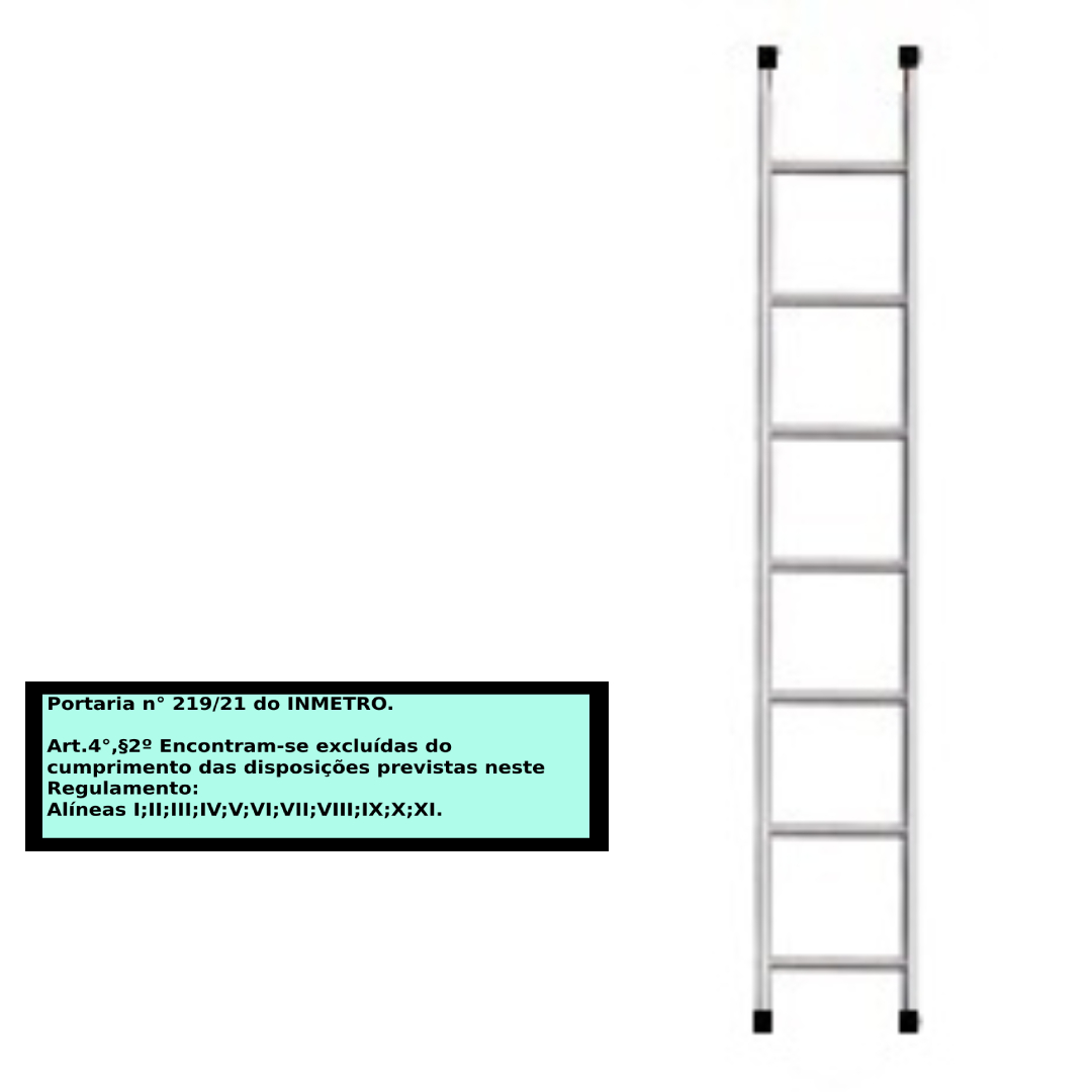 Escada paralela em alumino 7 Degraus