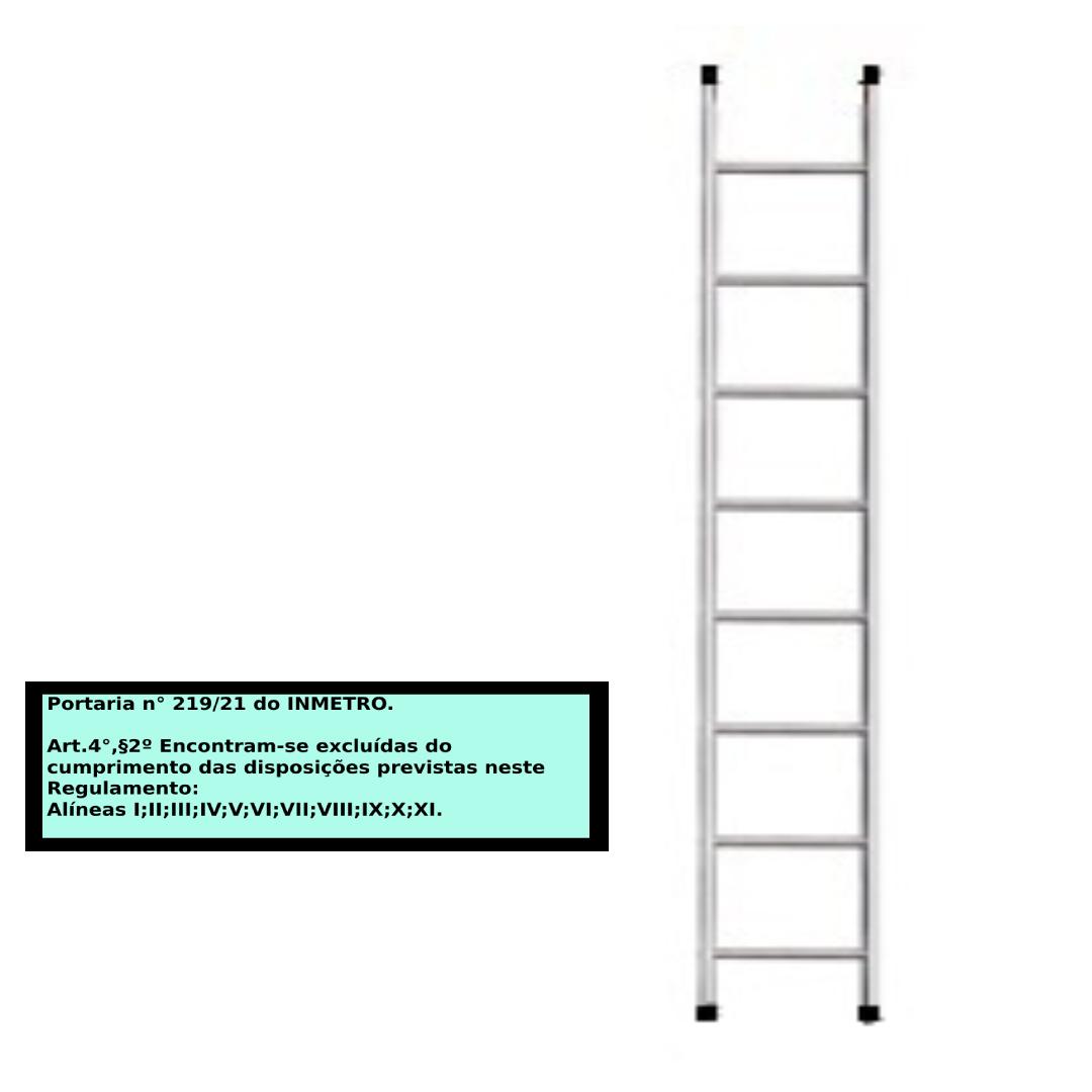 Escada paralela em alumino 8 Degraus