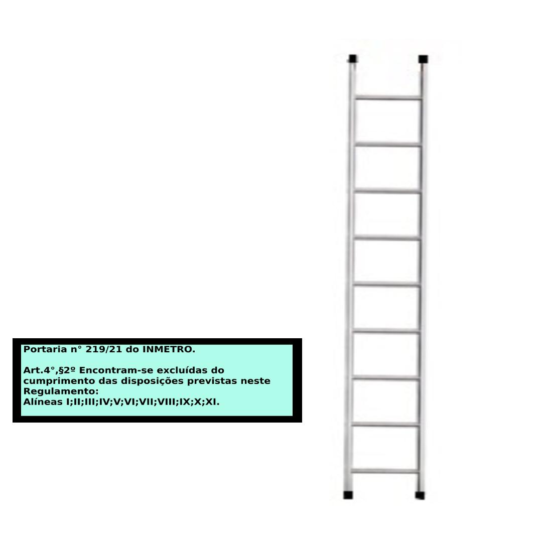 Escada paralela em alumino 9 Degraus