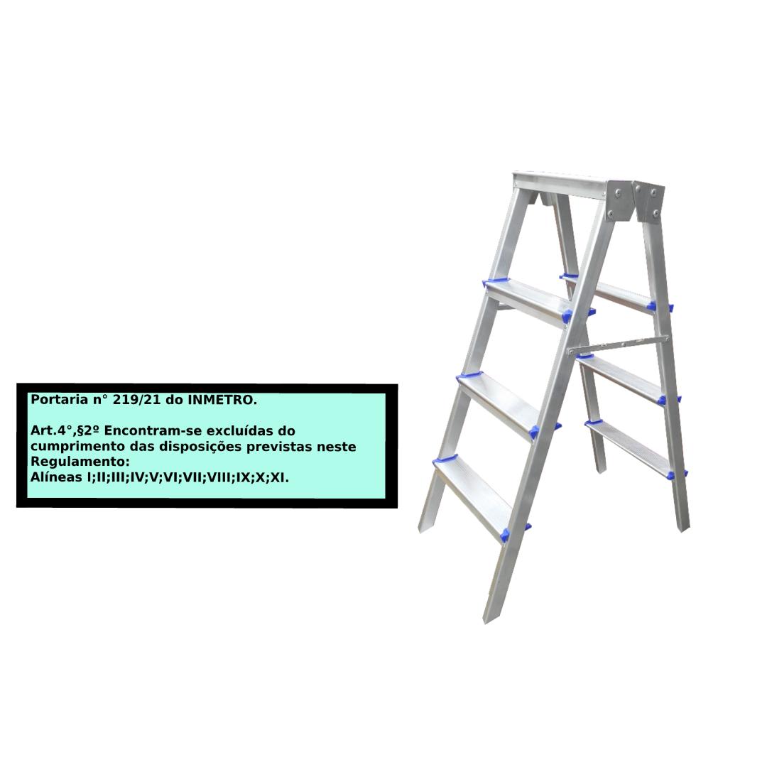 Escada Pintor americana em alumínio 4 Degraus