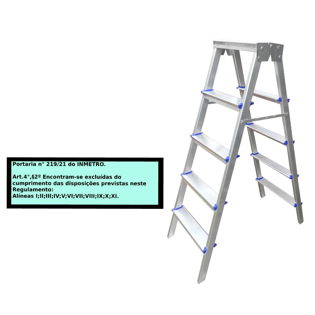Escada Pintor americana em alumínio 5 Degraus