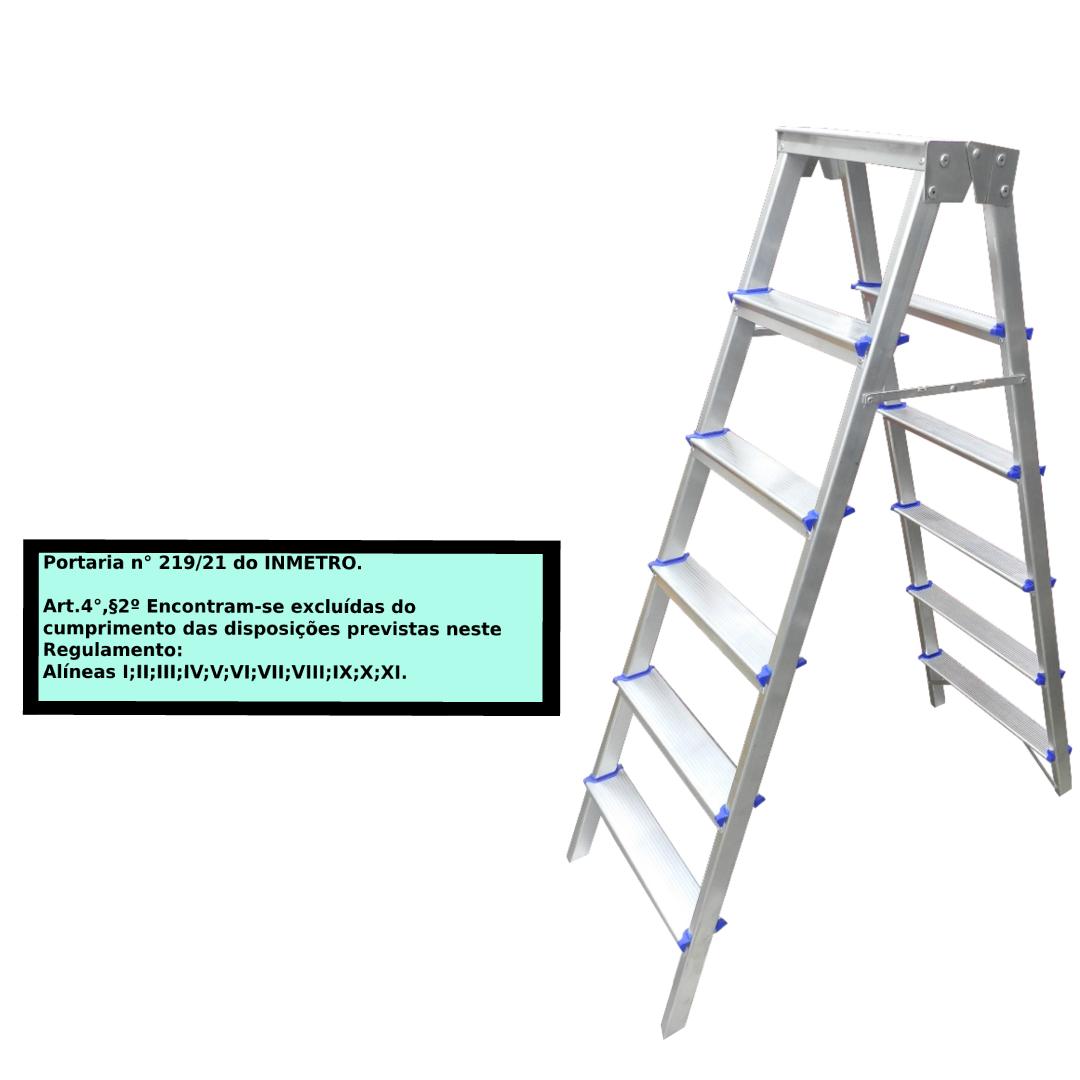 Escada Pintor americana em alumínio 6 Degraus