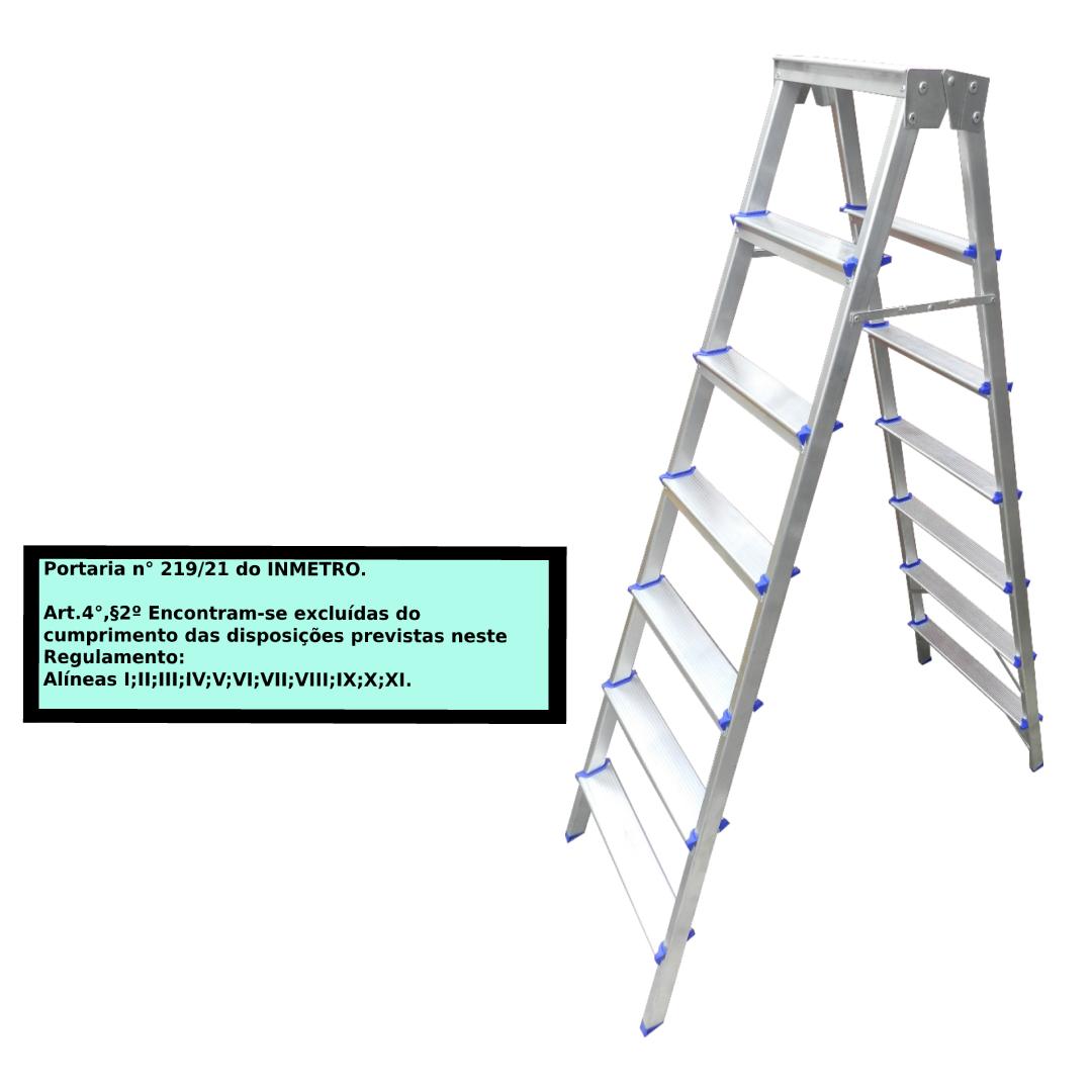 Escada Pintor americana em alumínio 7 Degraus