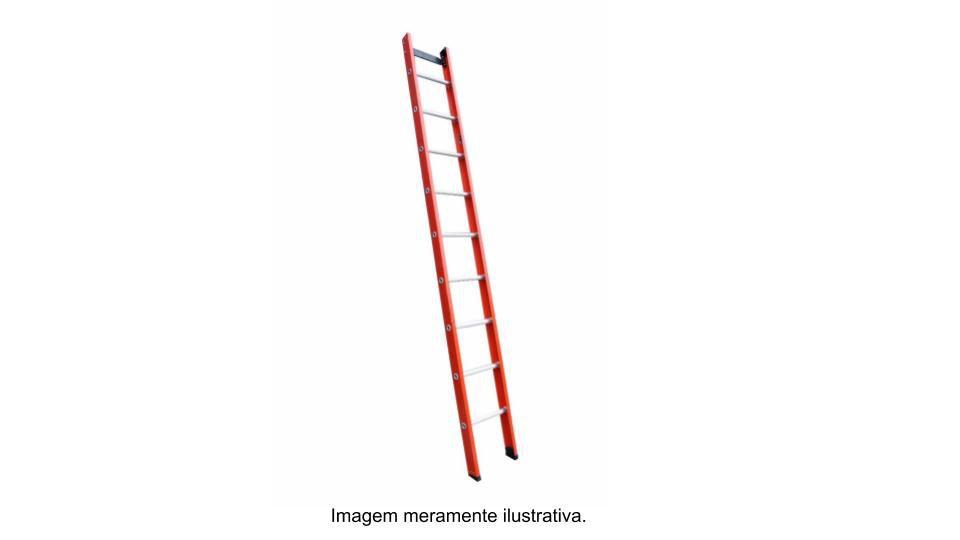 Escada singela em fibra de vidro 10 Degraus 3,30 metros