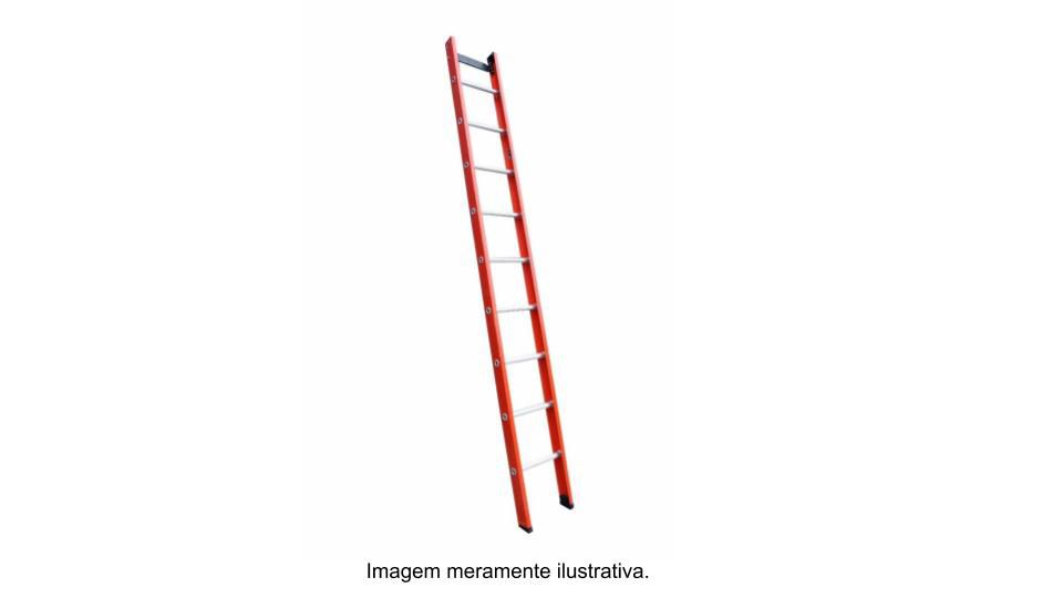 Escada singela em fibra de vidro 14 Degraus 4,50 metros