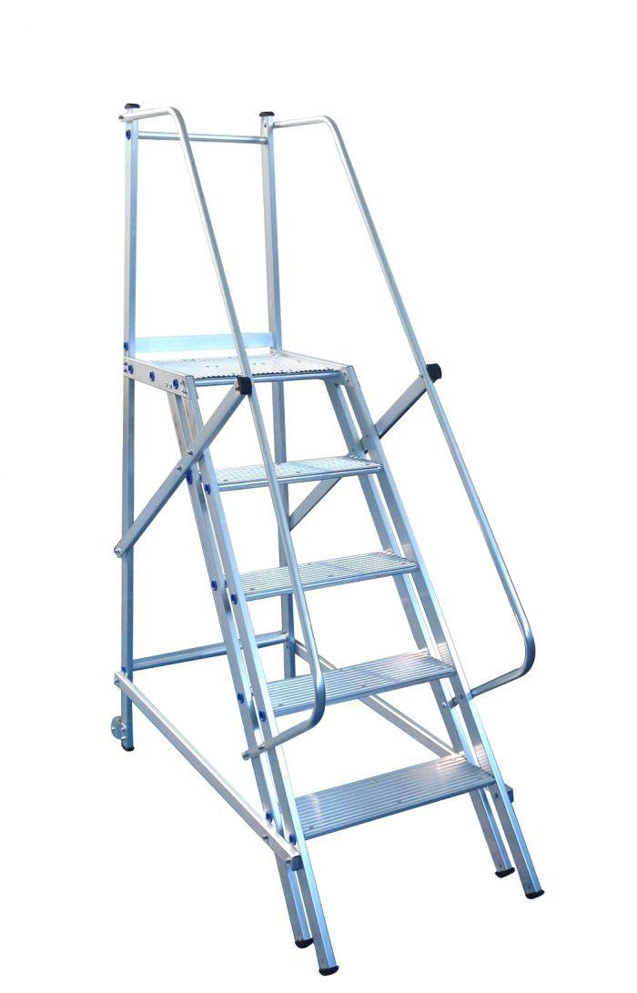 Escada trepadeira 4 degraus + Plataforma  (Não atende a norma NR12)