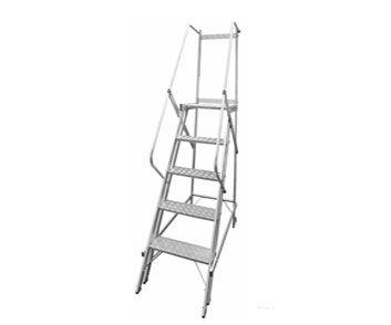 Escada trepadeira 5 degraus + Plataforma (Não atende a norma NR12)