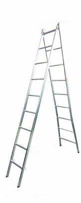 Escada Extensiva 2x1 em aço 9/18 Degraus-2,50x4,50 metros