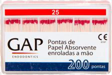 CONE DE PAPEL ABSORVENTE - GAP ENDODONTICS