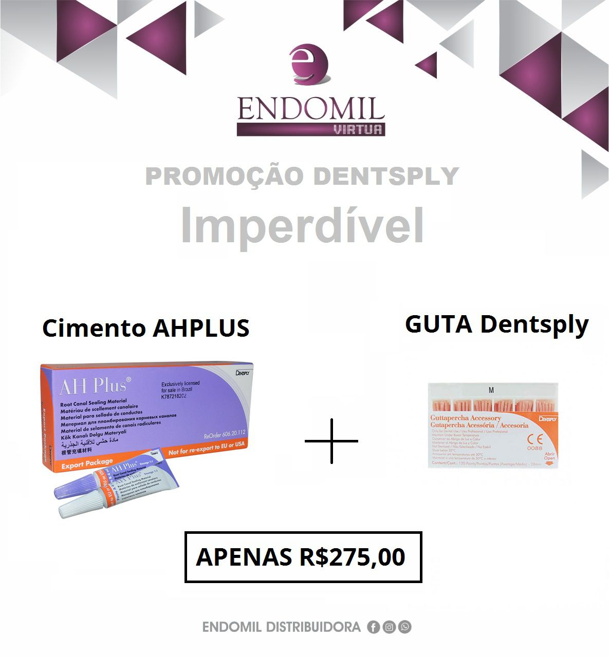 KIT AH PLUS + GUTA DENTSPLY