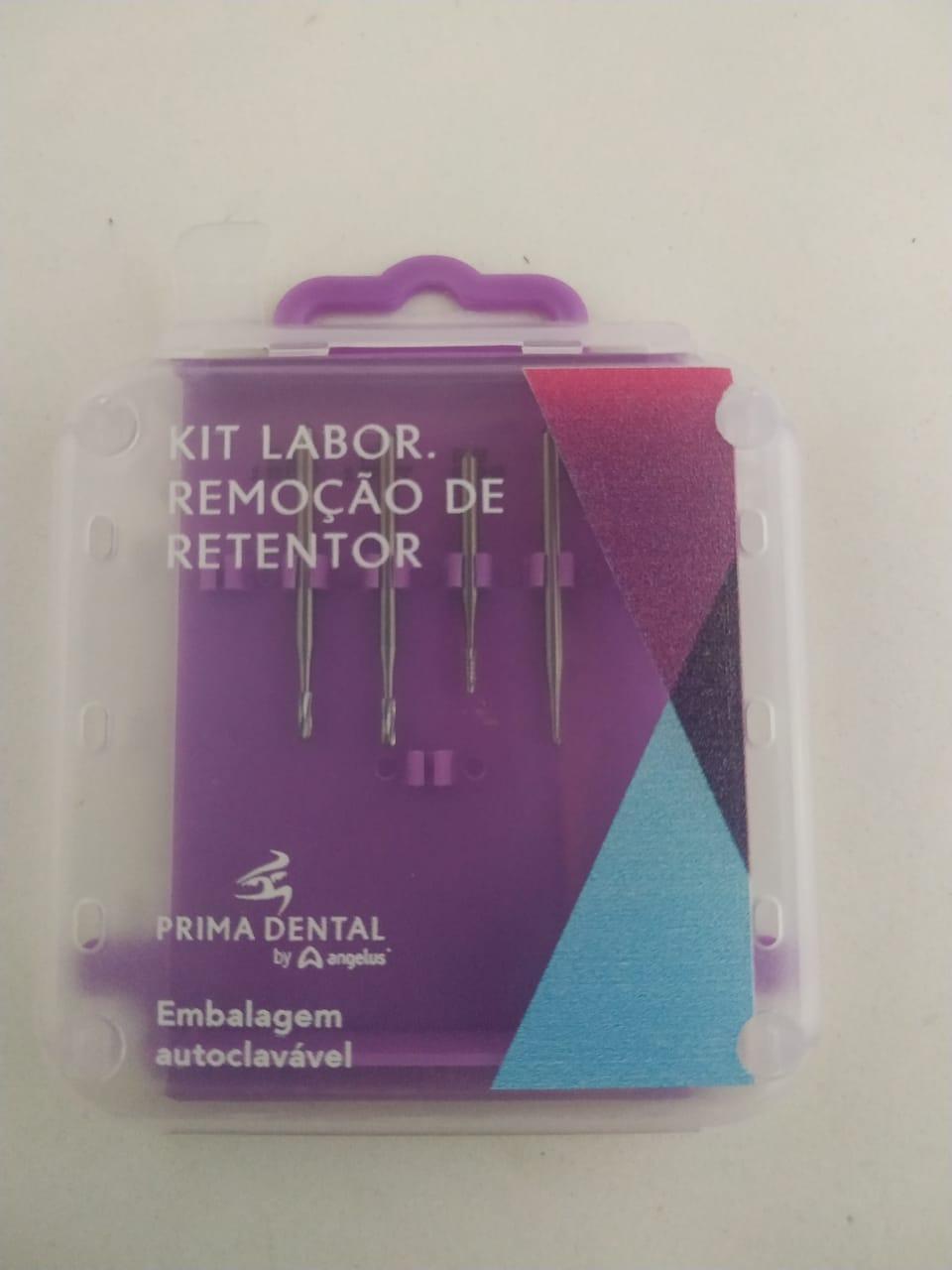 KIT BROCAS LABOR. REMOÇÃO DE RETENTOR - PRIMA DENTAL ANGELUS