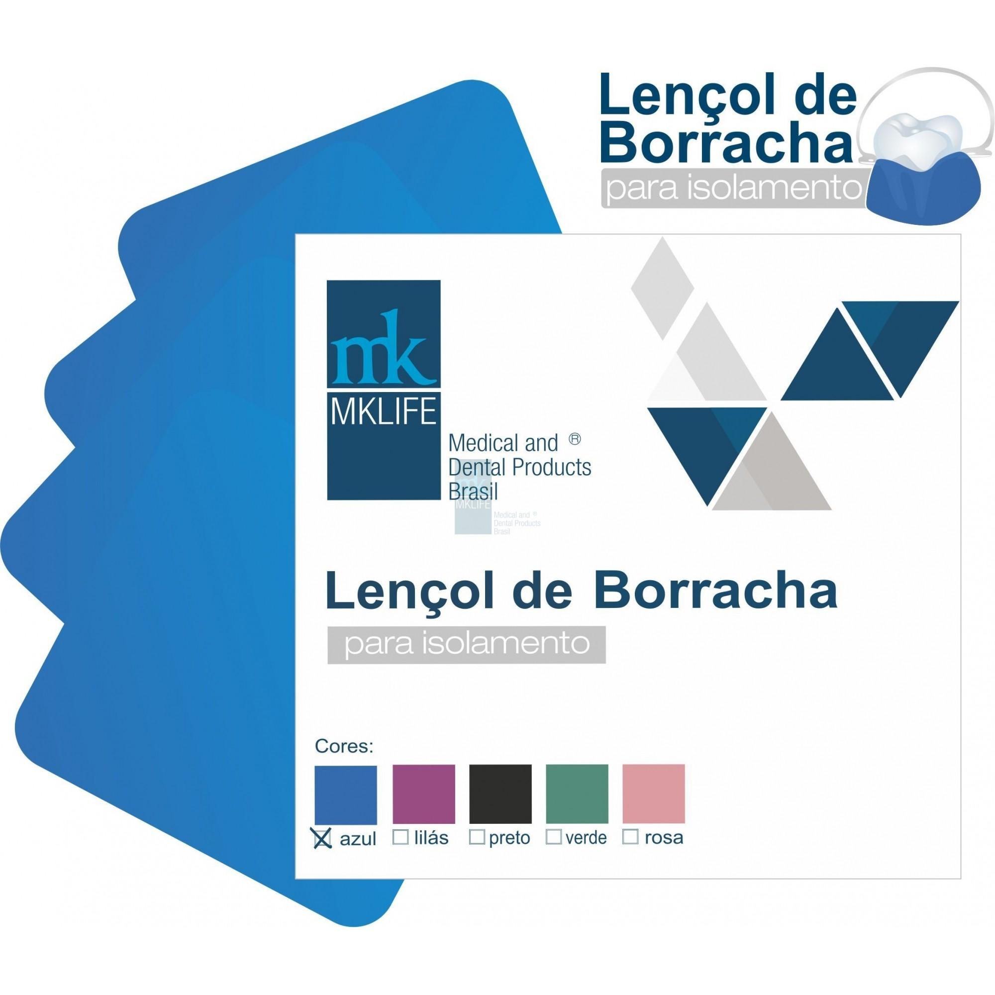 LENCOL DE BORRACHA AZUL  - MK LIFE