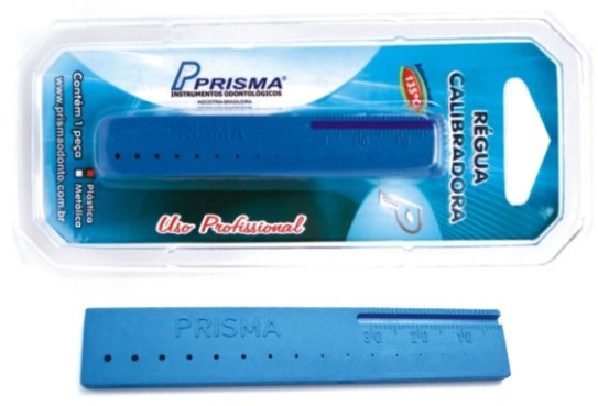 RÉGUA CALIBRADORA PLÁSTICA - PRISMA