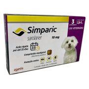 Antipulgas Zoetis Simparic 10 mg para Cães 2,6 a 5 C/3 Comprimidos
