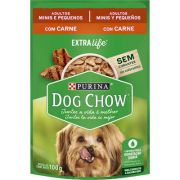 DOG CHOW ADULTO MINI PEQUENO CARNE 100G