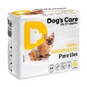 FRALDA HIGIÊNICA MACHO TAMANHO MÉDIO DOGS CARE 6/UND